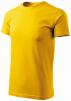 Tričko MALFINI Basic 160 bavlněné bezešvý střih trupu kulatý průkrčník silikonová úprava žlutá