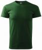 Tričko Basic 160 bavlněné kulatý výstřih silikonová úprava tmavě zelené