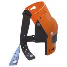 Nákoleník HORNÍK kloubový polstrovaný černou pěnou široké upínací pásky plastový skelet oranžový