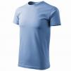 Tričko Basic kulatý průkrčník 100% bavlna 160g nebezsky modré