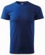 Tričko MALFINI Basic 160 bavlněné bezešvý střih trupu kulatý průkrčník silikonová úprava středně modré