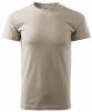 Tričko Basic 160 bavlněné kulatý výstřih výstřih silikonová ledově šedé