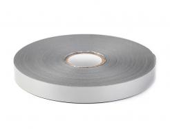 Páska reflexní pruh šíře 50 mm určená k našití stříbrná
