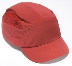 Čepice se skořepinou FBC+HC22 zkrácený štítek červená