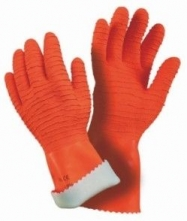 Rukavice MAPA HARPON 321 latex/bavlněný úplet silně zdrsněné oranžové velikost 9