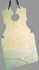 Kožená svářečská zástěra dělená 104x90 cm s límcem hovězí štípenka šedá