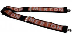 Šle CERVA EMERTON flexibilní nastavitelné šířka 5 cm kovové přezky červeno/černé