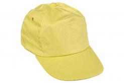 Čepice CERVA LEO baseballová sešita z 5 panelů plastový nastavovací pásek žlutá