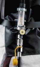 Regulační ventil tryskací kukly Honeywell COMMANDER ZGH II + Panorama kompletní s tlumičem a rychlospojkou