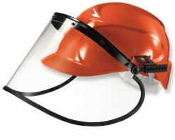 Ochranný obličejový štít UVEX 540 x 195 mm včetně držáku na přilbu (bez přilby) dielektrický nemlživý čirý
