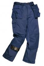 Montérkové kalhoty PW CHICAGO do pasu odolné 13 kapes tmavě modré