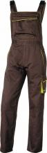Montérkové kalhoty DELTA PLUS MACH 6 PANOSTYLE s laclem PES/bavlna rovný střih pruženka v pase a na šlích hnědo/zelené