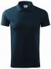 Polokošile Malfini Single Jersey 180 bavlna hladká krátký rukáv 2 knoflíky žebrovaný límec tmavě modrá