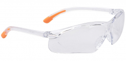 Brýle PW FOSSA sportovní rámeček dvouzorníkový dizajn protažený do strany šňůrka na zavěšení čiré