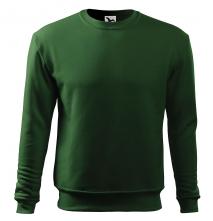 Mikina Essential 300 pánská BA/PES elastický úplet manžety průkrčník spodní lem tmavě zelená