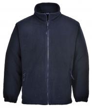 Mikina flísová ARAN volná se zapínáním na zip tmavě modrá velikost XL