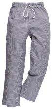 Kalhoty PW BROMLEY CHEFS elastický pas na šňůrku 100% bavlna kuchařské vzor pepito tmavě modro/bílé