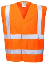 Vesta PW FLAMESAFE Hi Vis výstražná reflexní pruhy nehořlavá Index 1 oranžová