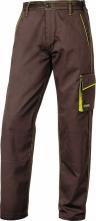 Montérkové kalhoty DELTA PLUS MACH 6 PANOSTYLE do pasu PES/bavlna rovný střih poutka na opasek hnědo/zelené