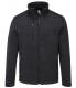 Mikina PW KX3 Venture fleece zesílená ramena kapsy na zip melírovaná šedo/černá