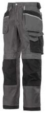 Profesionální pracovní kalhoty SNICKERS DuraTwill do pasu šedo/černé velikost 50