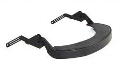Držák štítu Hellberg EPOK Flex nylonový včetně těsnění na přilbu se šikmým kšiltem černý