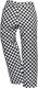 Kalhoty PW Harrow Chefs do pasu PES/bavlna povrchová úprava proti špíně a vodě šachovnice černo/bílá