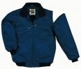Bunda DELTA RENO PES/PU do pasu odepínatelné rukávy šikmé kapsy u pasu náplety na rukávech tmavě modrá