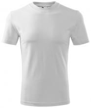 Tričko Classic 160 bavlna kulatý průkrčník trup beze švu bílé