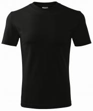 Tričko Classic 160 bavlna kulatý průkrčník trup beze švu černé