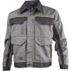 Montérková blůza DELTA Mach Corporate košilový límec kontrastní obšívání světle šedá/tmavě šedá