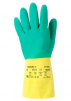 Rukavice Ansell Alphatec 87-900 (Bi-Colour) latexovo/neoprenové tloušťka 0,68 mm délka 322 mm zeleno/žluté
