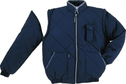 Bunda NEW DELTA zateplená odepínatelné rukávy tmavě modrá velikost XL