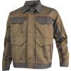 Montérková blůza DELTA Mach Corporate košilový límec kontrastní obšívání tmavě béžovo/šedá