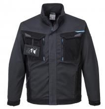 Montérková blůza PW WX3 PES/BA 280g krytý zip kapsy na prsou a u pasu na zip šedo/černá