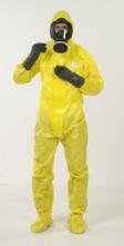 Ochranná protichemická kombinéza JETGUARD 3B odolnost tlakové kapalině integrované boty žlutá velikost L