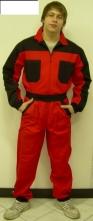 Kombinéza ROMAN bavlna červeno/černá velikost 50