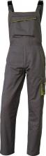 Montérkové kalhoty DELTA PLUS MACH 6 PANOSTYLE s laclem PES/bavlna rovný střih pruženka v pase a na šlích šedo/zelené