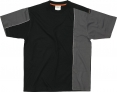 Triko Mach 2 krátký rukáv černo/šedé velikost L