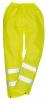Kalhoty Hi-Vis materiál polyester laminovaný PVC výstražná žlutá velikost L
