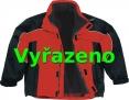 Bunda ALBATROS zateplená sportovní střih červeno/černá velikost M