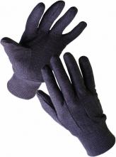 Rukavice CERVA FINCH bavlněné teplákové pružná manžeta hnědé