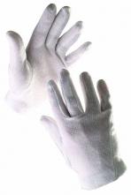 Rukavice CERVA IBIS nylonové šité úplet fourchette bílé