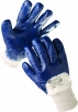 Rukavice CERVA HARRIER polomáčené v nitrilu pružná manžeta modré