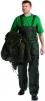 Kalhoty TITAN s laclem zateplené pružné šle zelené velikost XL