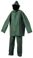 Oblek Cerva HYDRA PVC blůza s kapucí na zip a kalhoty do pasu zelený