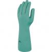 Rukavice DELTA PLUS NITREX 840 nitrilové 400 mm tloušťka 0,5 mm vnitřní flokování bavlnou zelené