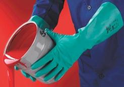 Rukavice Ansell SOL-VEX nitrilové délka 380 mm zelené velikost 9
