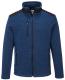 Mikina PW KX3 Venture fleece zesílená ramena kapsy na zip melírovaná středně modrá/černá