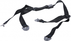 Podbradní pásek ENDURANCE Clip-on 4-bodový pro přilby ENDURANCE a PROTECTOR nastavitelný černý